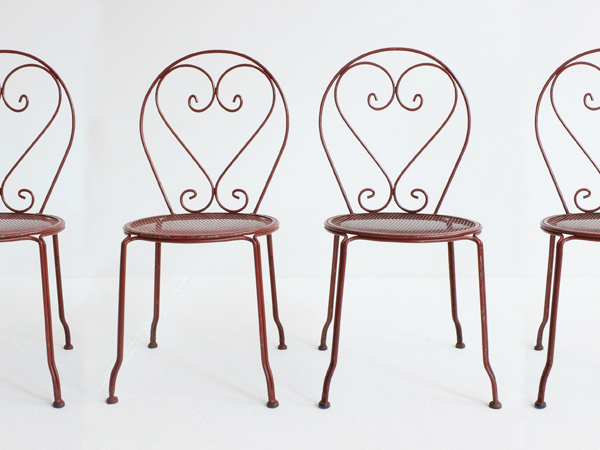 45 Pieces of metal Garden Chairs