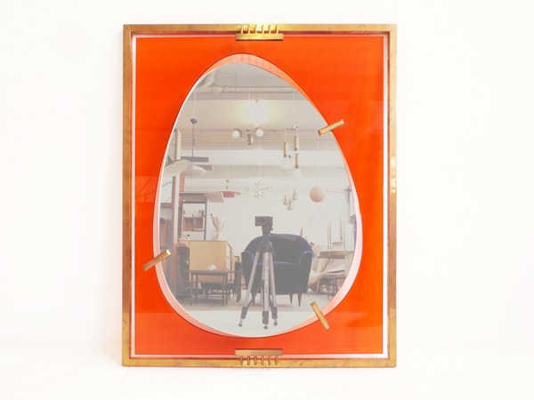 Huge oval mirror