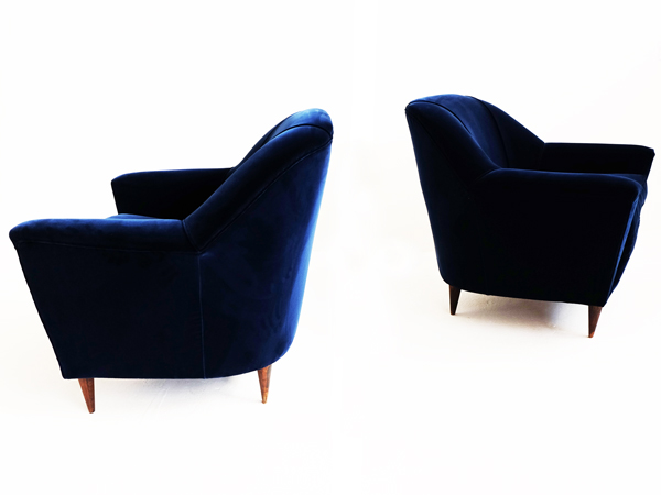 Pair of deep blu velvet 1951
