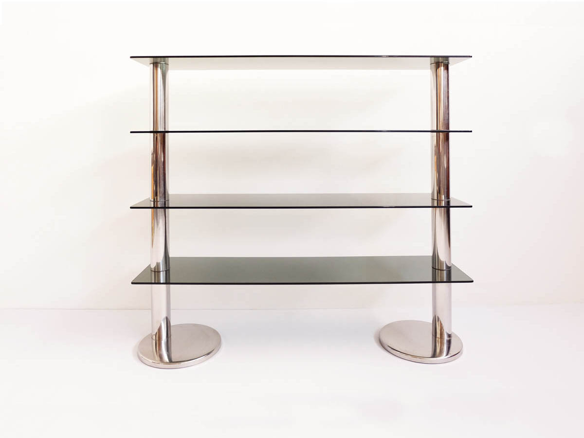 Italian Design Free Standing Steel Bookshelf
