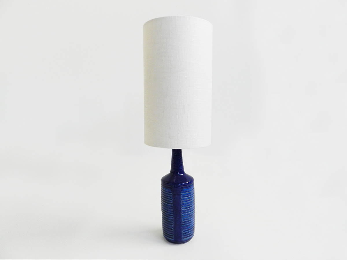 Denmark ceramic blue table lamp