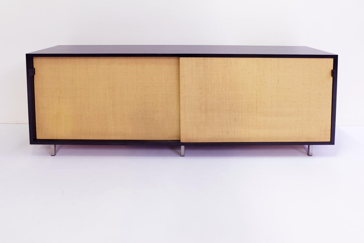Elegant sideboard with sliding cane doors