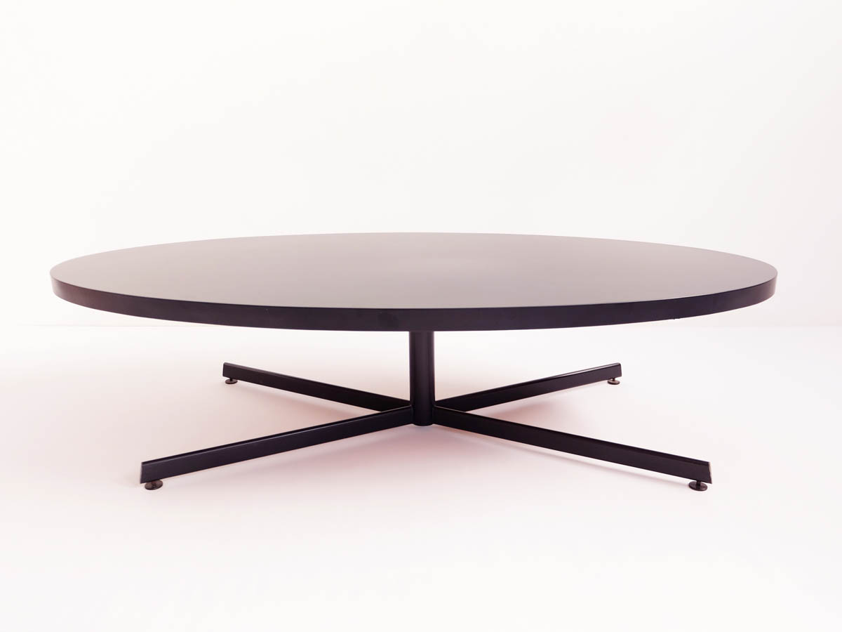 Huge black oval coffee table