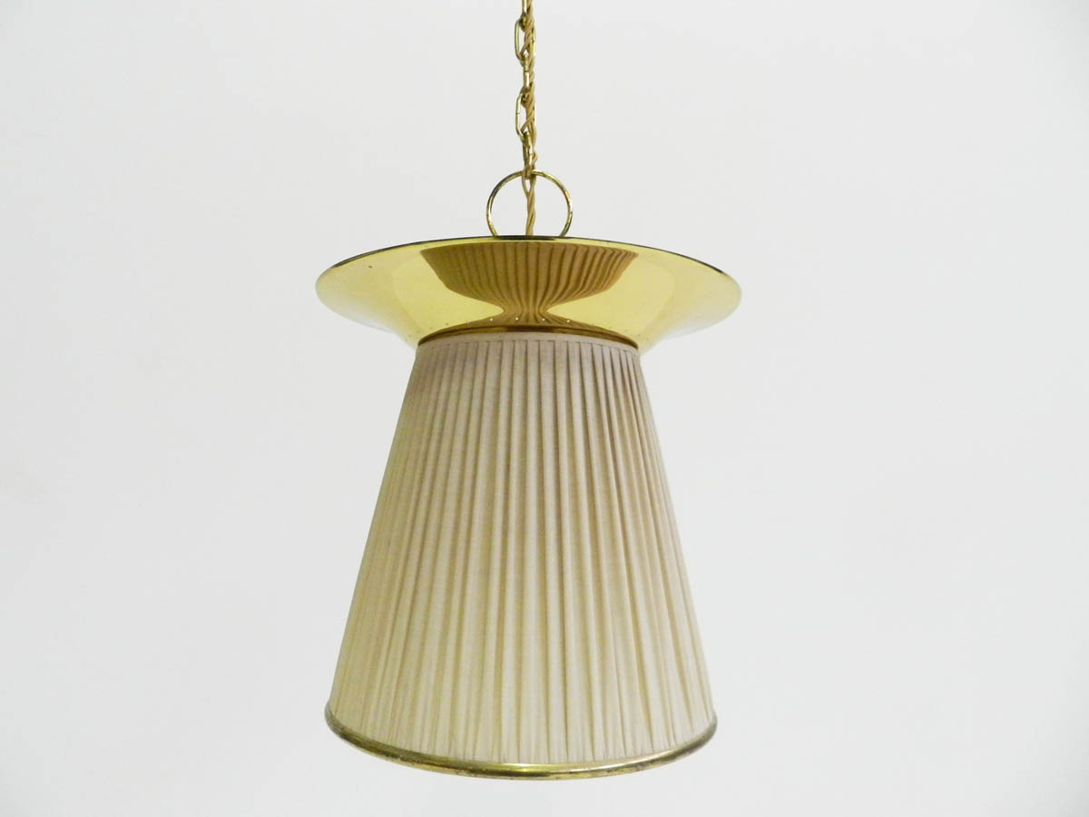 Brass Chandelier with Double Illumination