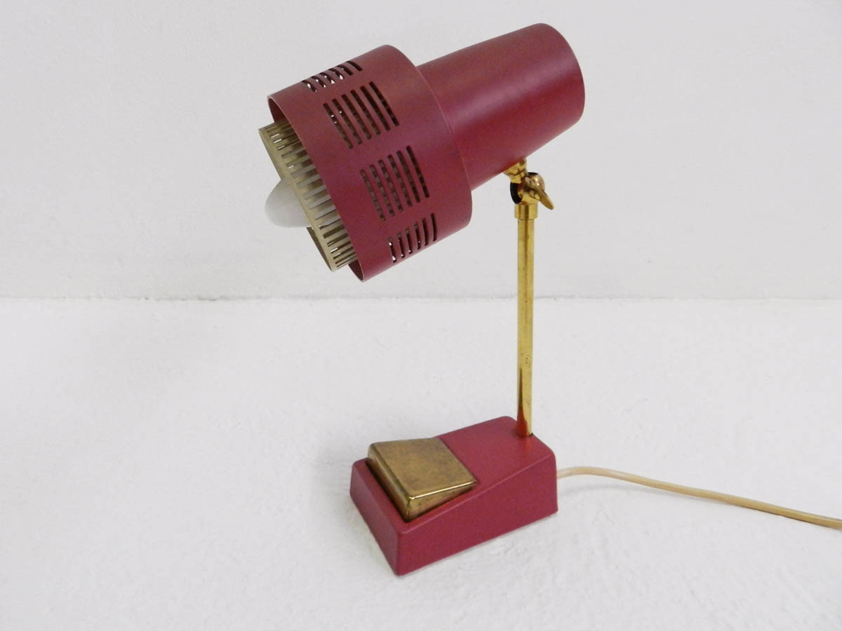 Small adjustable table lamp
