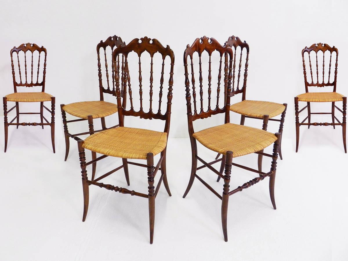 6 Chiavarina chairs mod. Francesina