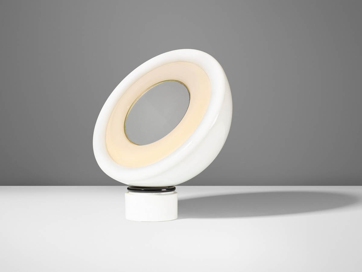Rotating mirror and table lamp