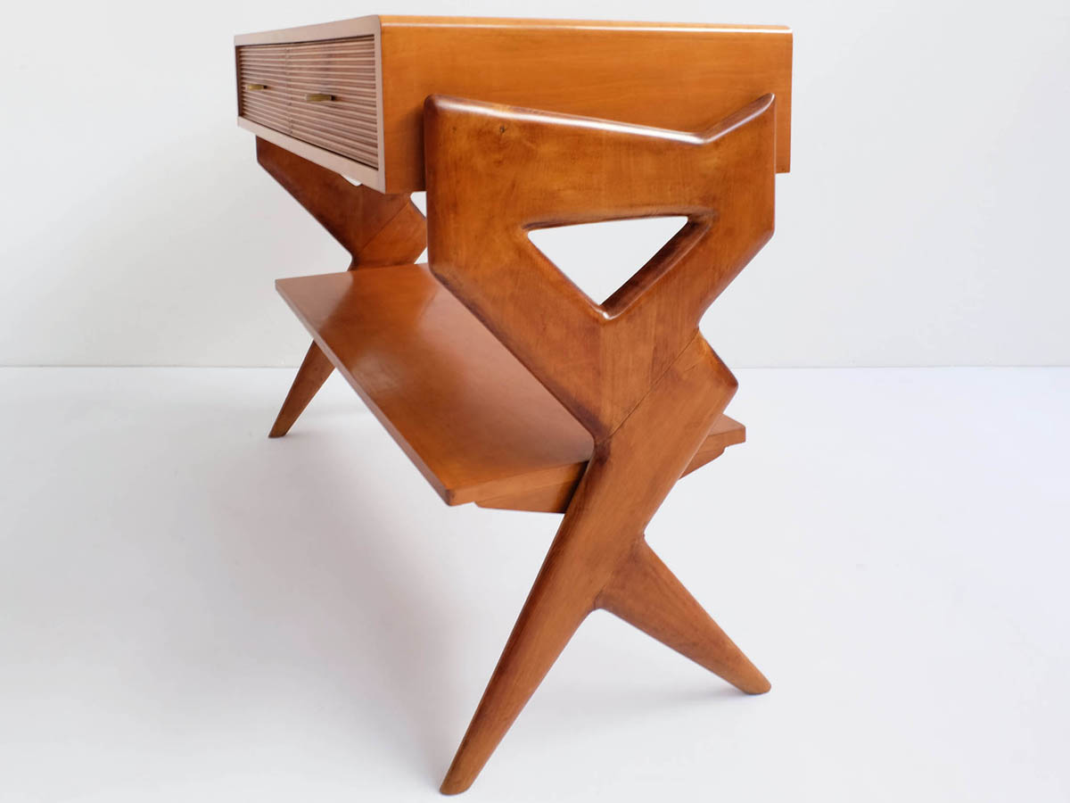 Sculptural center chest of drawers