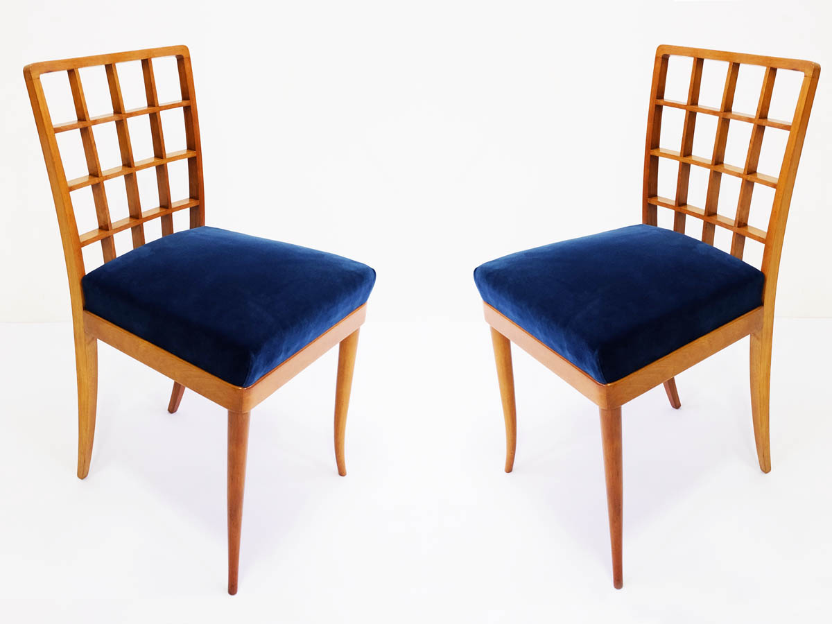 Super elegant pair of italian chairs