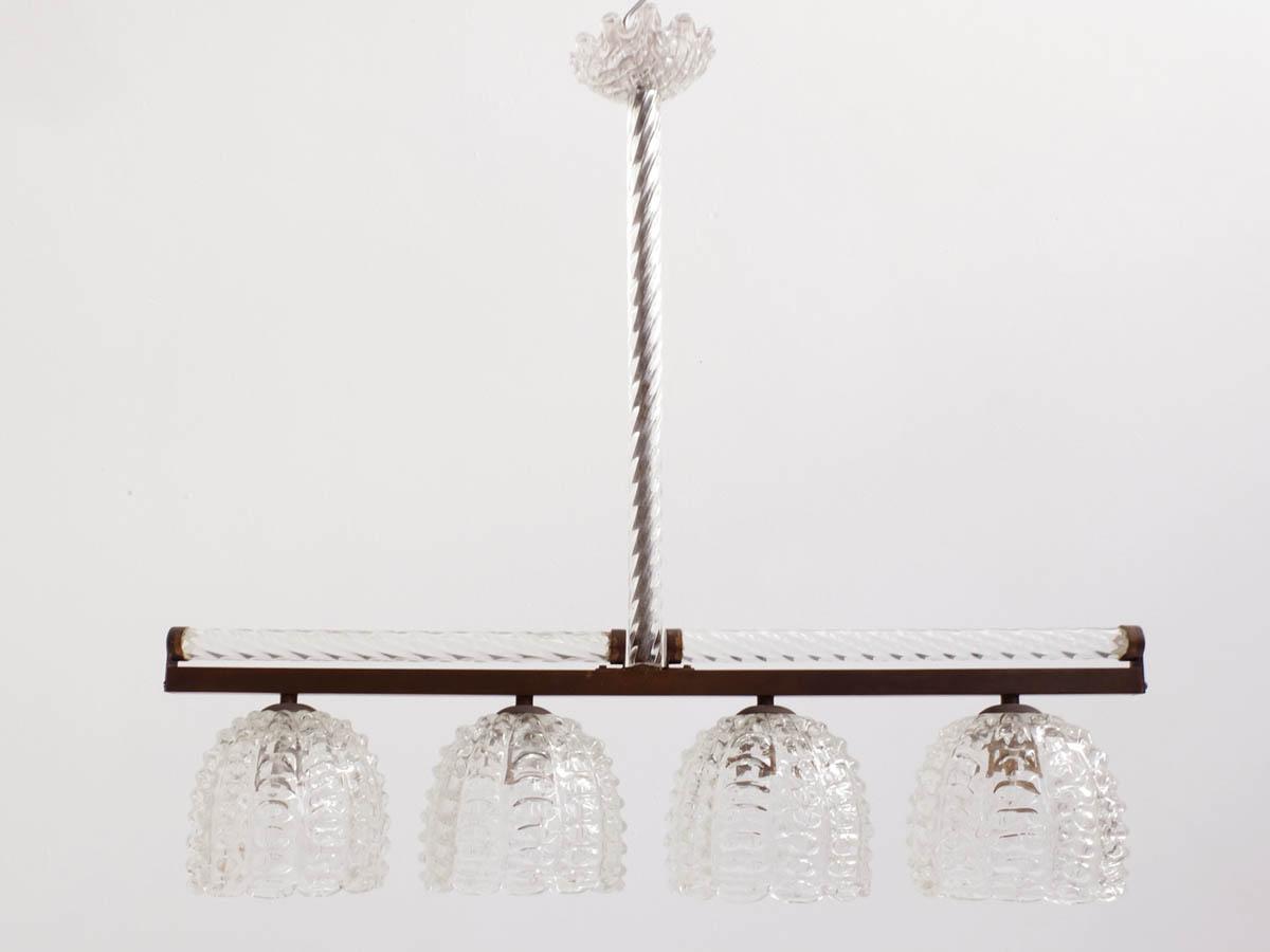 Massive inline glass pendant