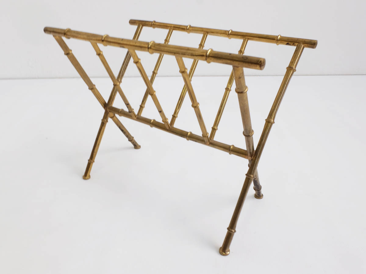 "Brass ""bamboo"" magazine holder"