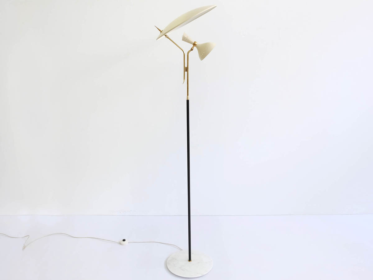 Floor lamp with adjustable shades