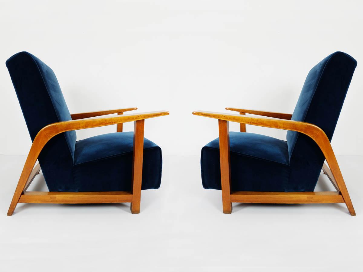 Paar 1940 Lobby Lounge Stühle