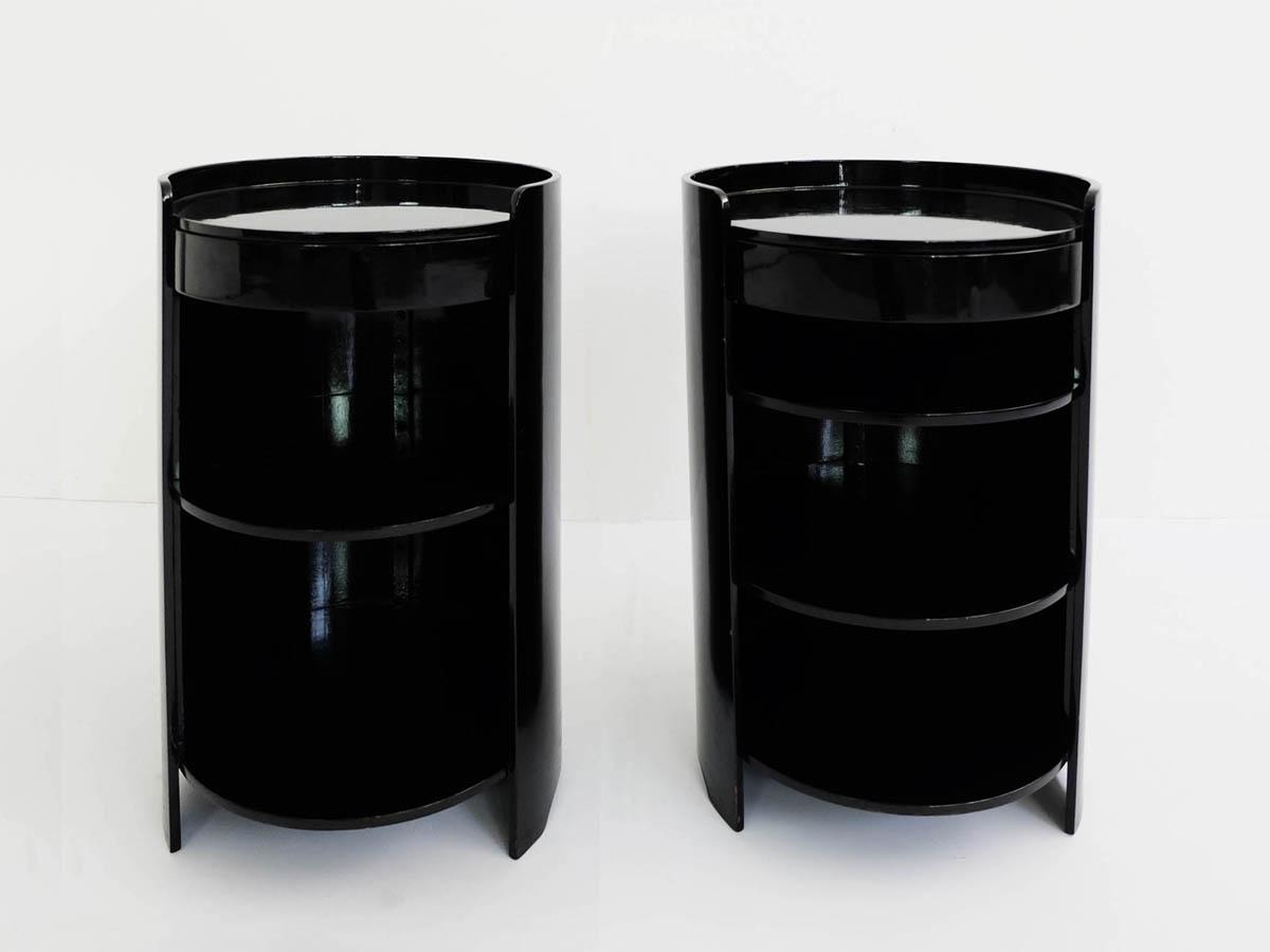 Black lacquered sidetables mod. Casaccia