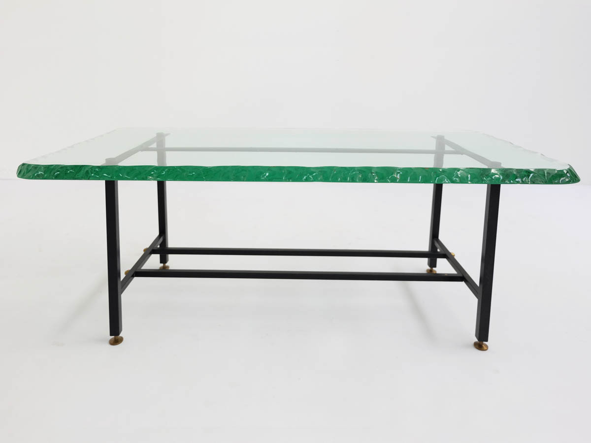Massive glass coffee table