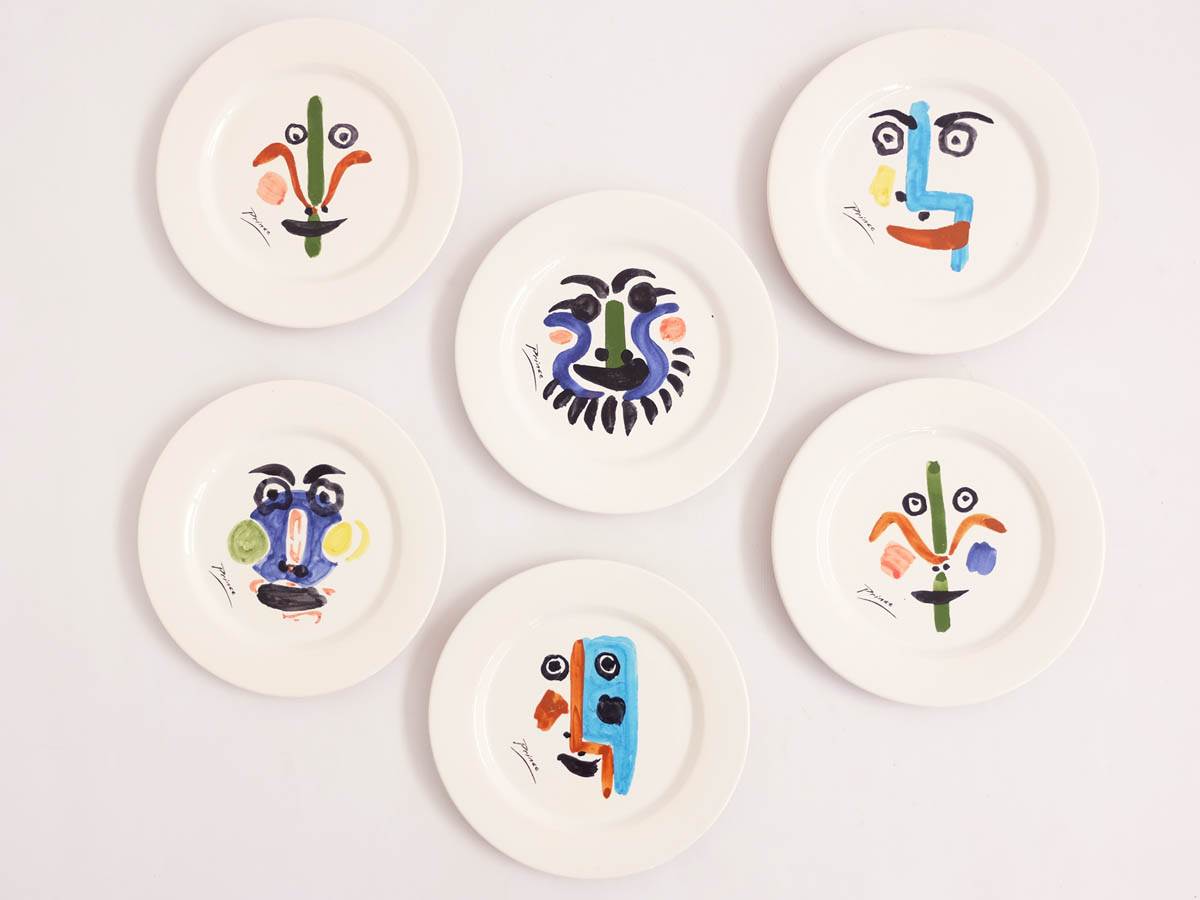 Happy faces placeholder dishes