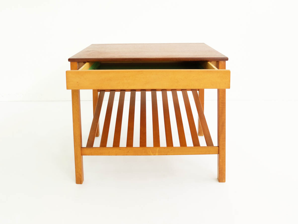 Side table with a drawer and diagonal stand