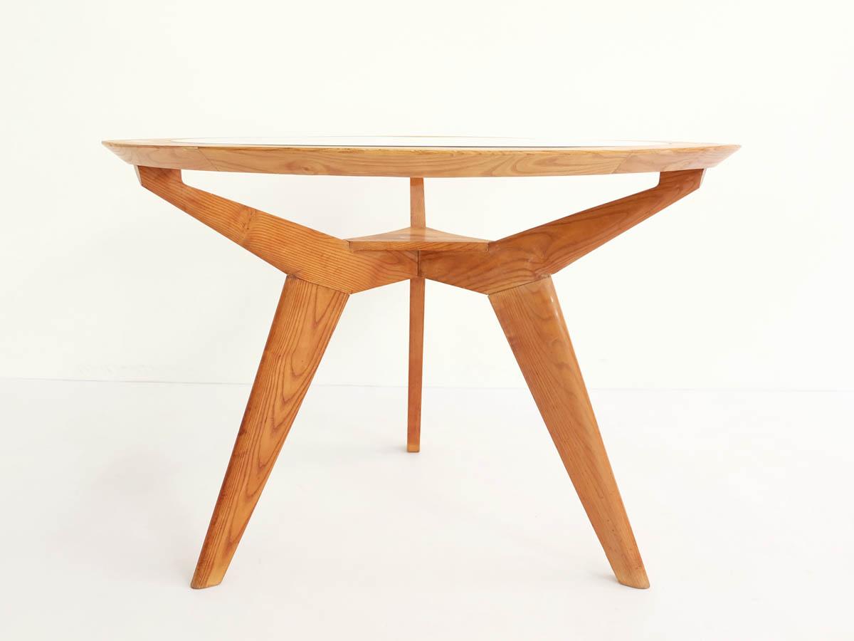 Tavolo Rotondo Architettonico in Acero e Vetro