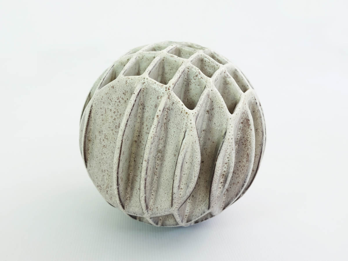 Balancing Sphere Sculpture Ikebana Vase