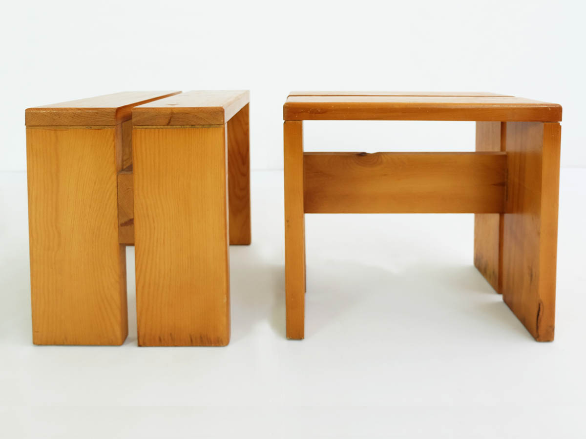 Pair of Les Arcs Stools