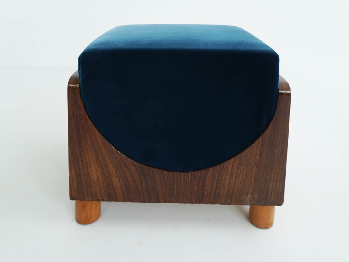 Half-moon square stool