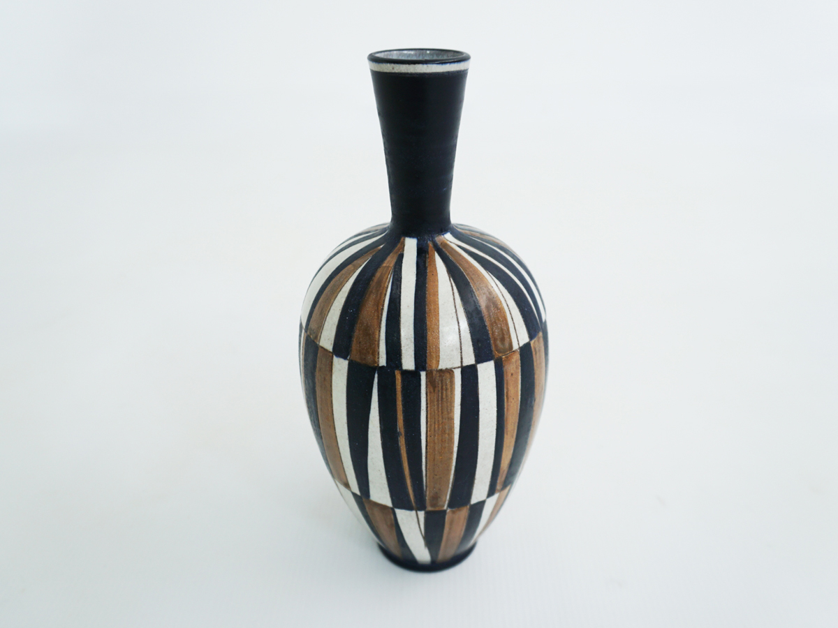 Swiss tribal ceramic vase