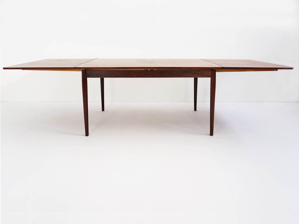 Rosewood expandable dining table