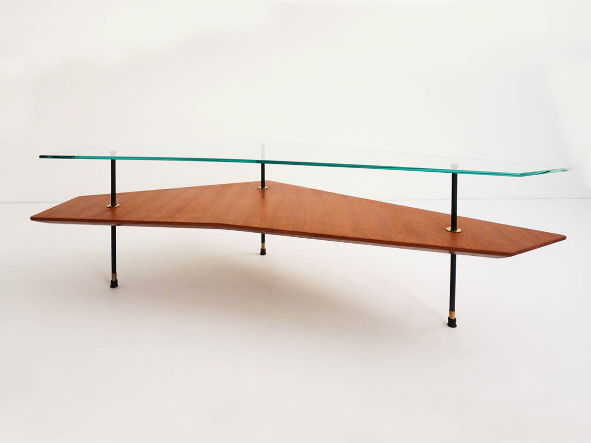 Double diagonal coffee table