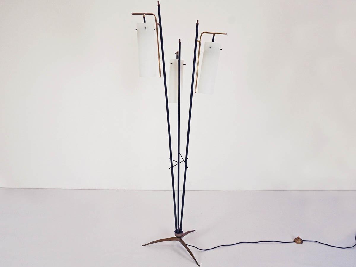 Three glass cones floor lamp