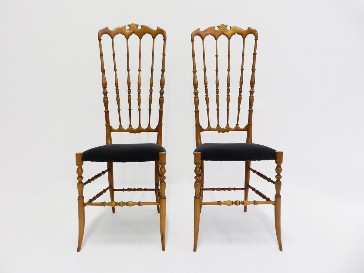 "4 Chairs mod. Chiavarina ""Alta"""