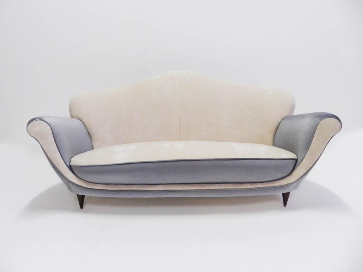 Bicolor Small Italian Sofa