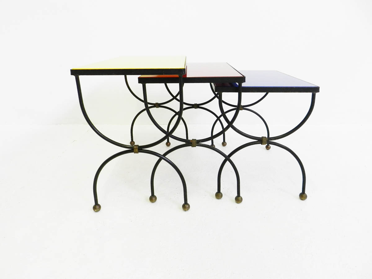 "Set of 3 nesting tables ""Mondrian"""