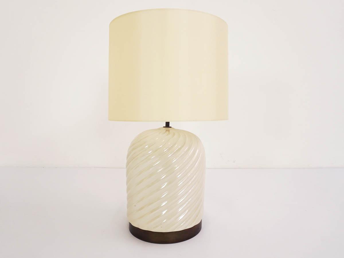 Élégante Lampe n Céramique émaillée et Laiton