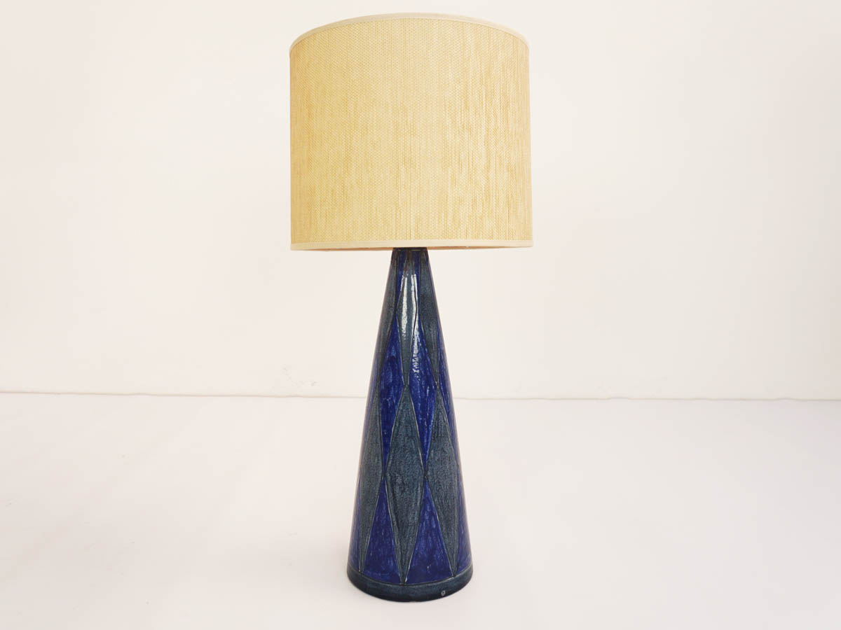 """Blu Arlecchino"" Ceramic Table Lamp"