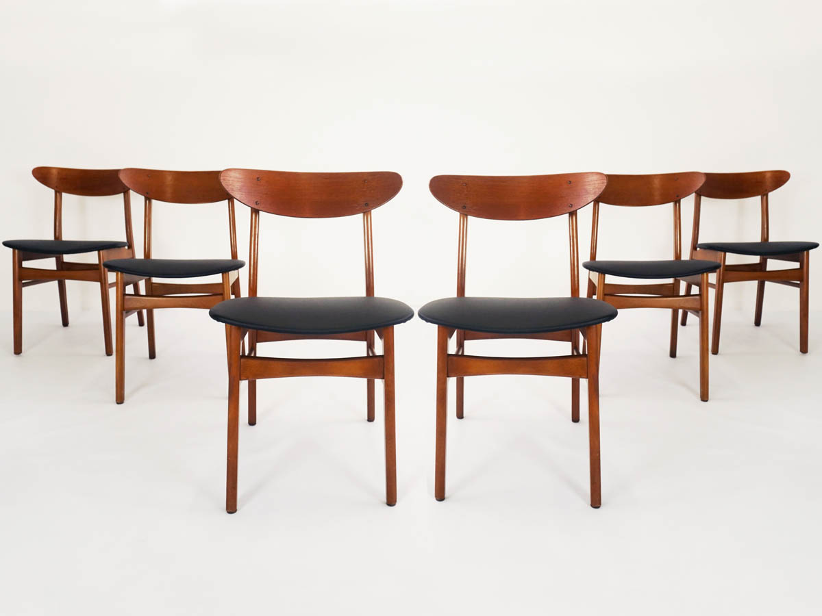 Set of 6 Danish chairs