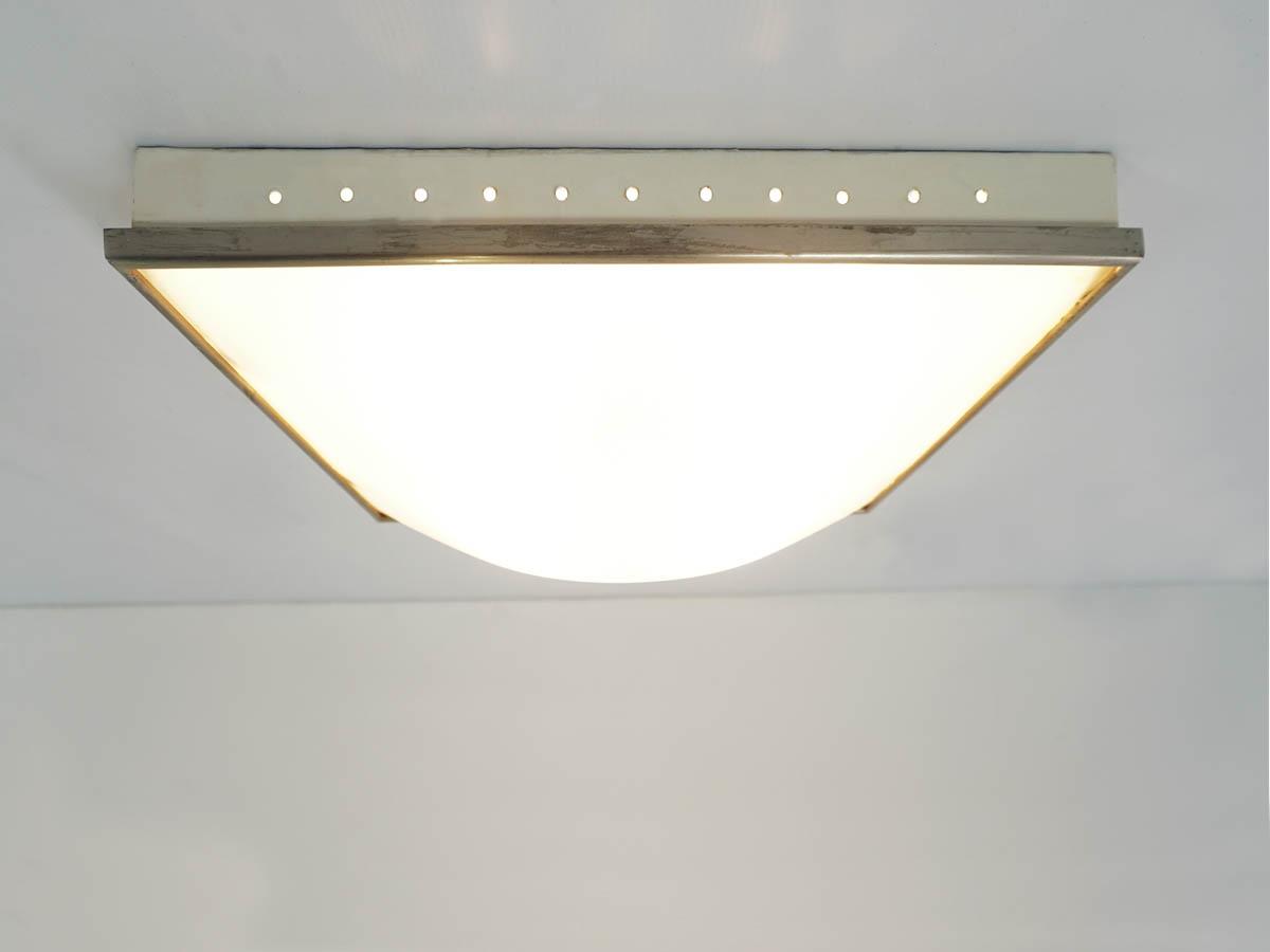 Squared elegant wall or flush lamp
