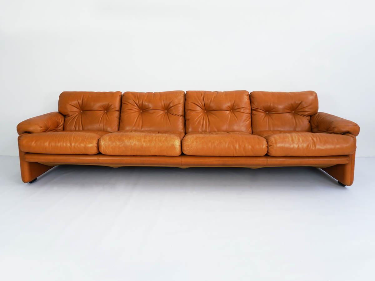 Patina leather sofa mod. Coronado