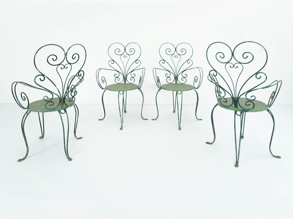 Set of 4 Butterfly garden chairs