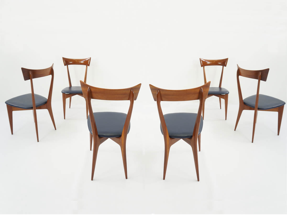 6 Chairs with Turned Backs