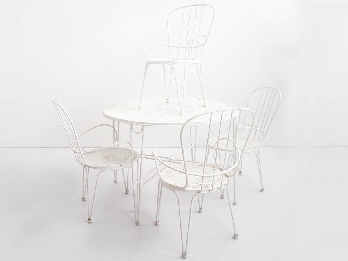 Garden set of table and chairs