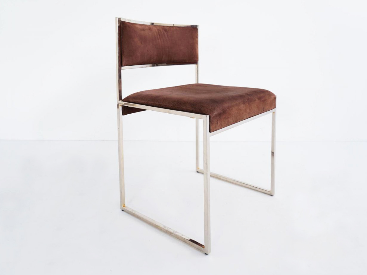 6 Chairs in Buffalo leather mod. Atelier