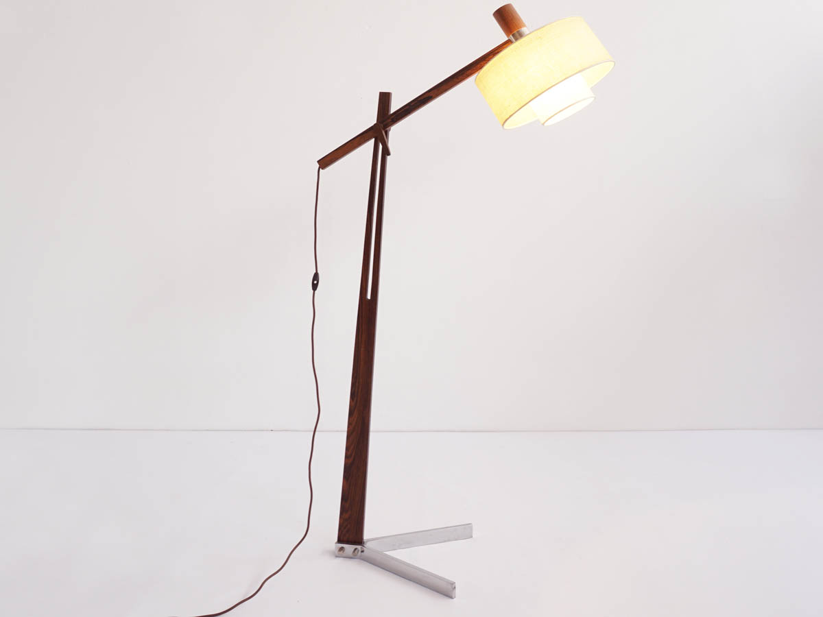 Adjustable Palissander floor lamp