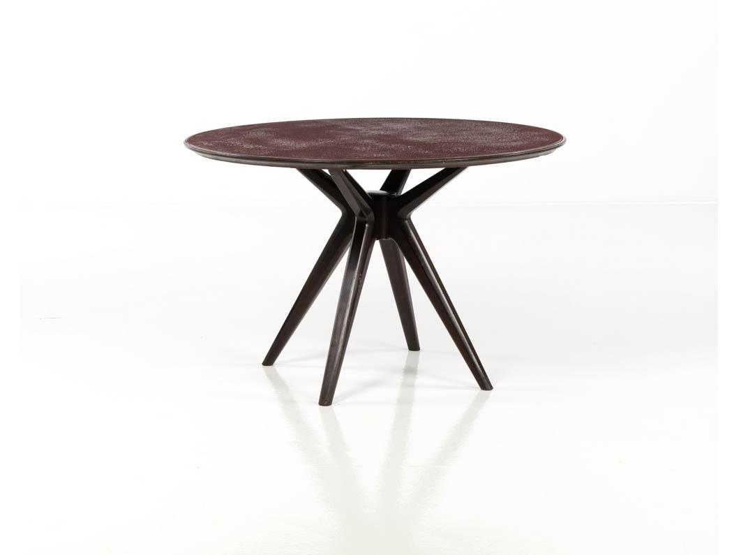 Reversed Painted Glass Table (Unique Piece)