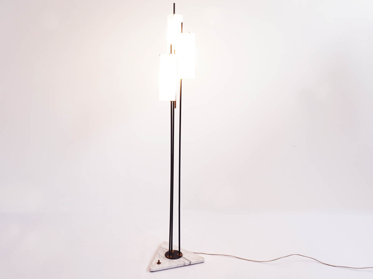 Three glass tubes floor lamp