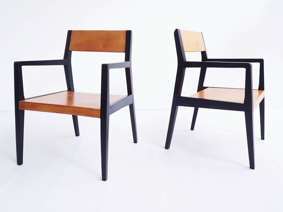 4 Swiss minimal chairs
