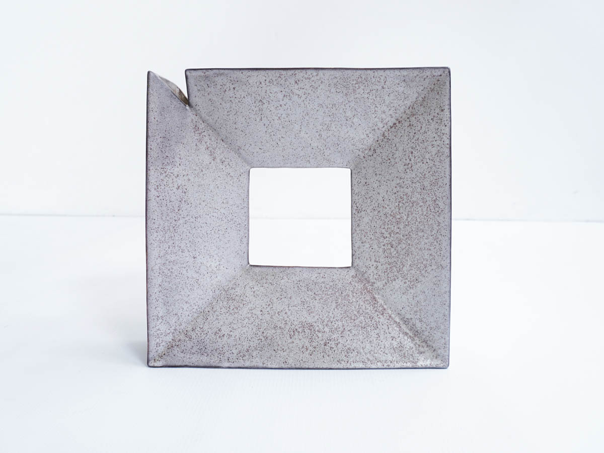 Architectural square vase
