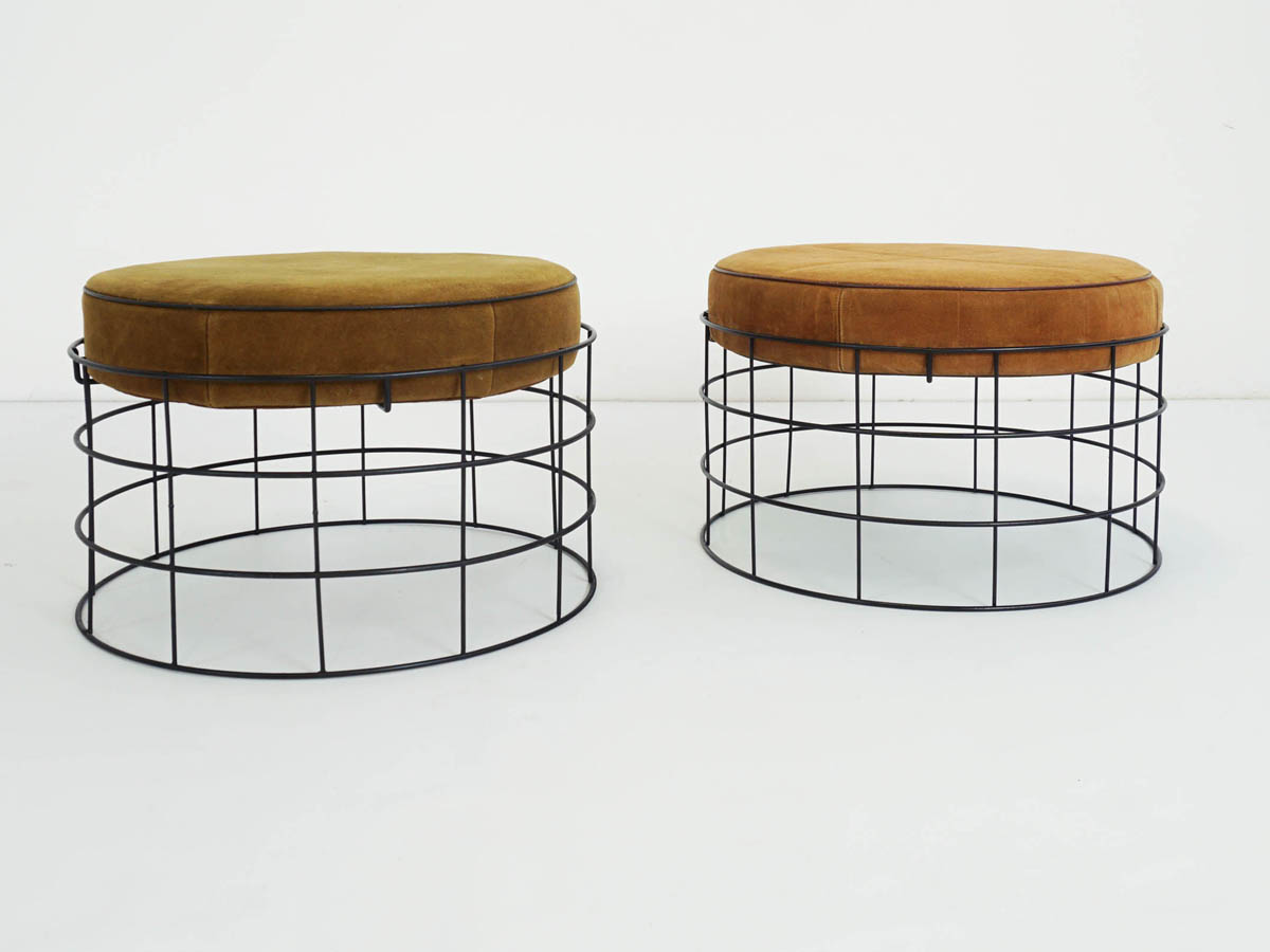 Wire T1 Suede Stools