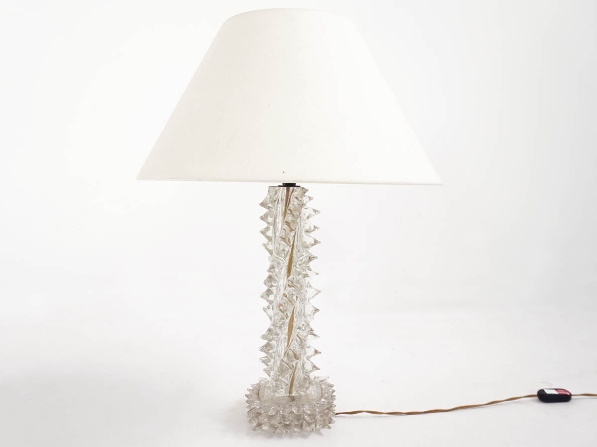 "Solid Murano Glass ""Rostrato"" Table Lamp"