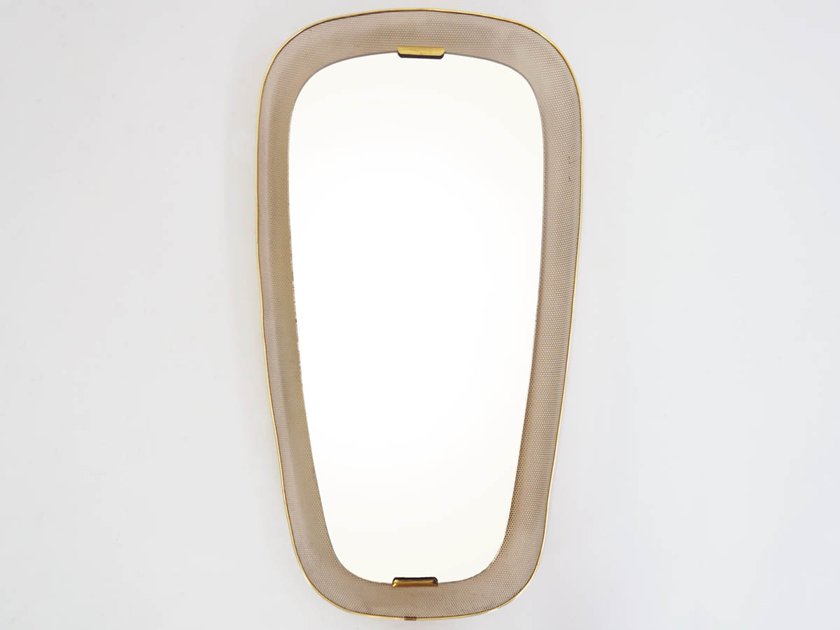 Oval Backlit Perforated Metal Mirror