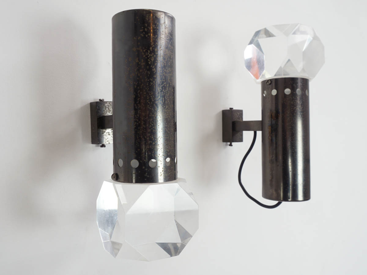 2 Massive Plexi Prisma Sconces